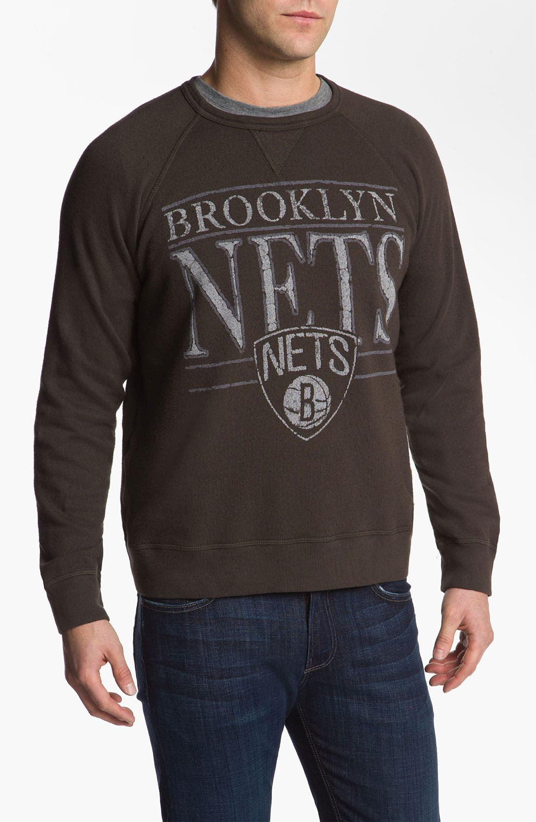 Alternate Image 1 Selected - Junk Food 'Brooklyn Nets' Sweatshirt