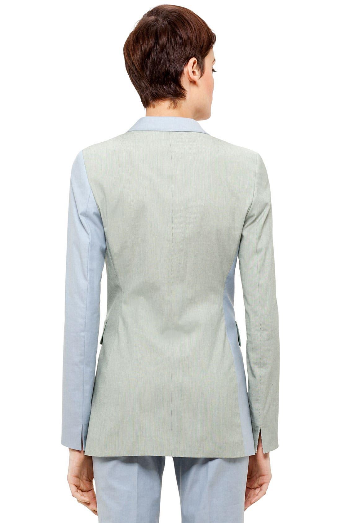 Alternate Image 4  - Akris punto Long Colorblock Blazer