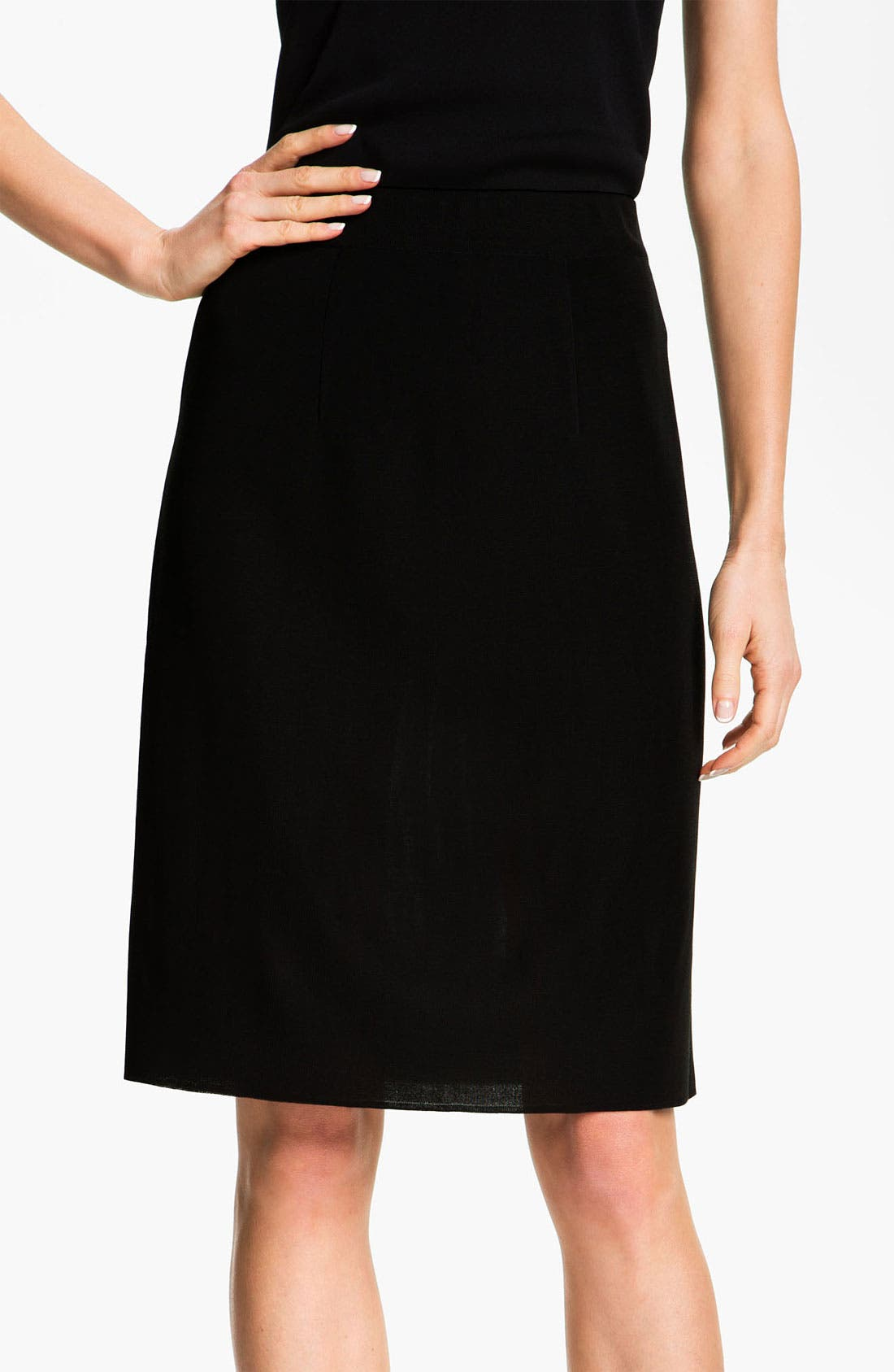 Main Image - Misook Pull-On Skirt (Petite) (Online Only)