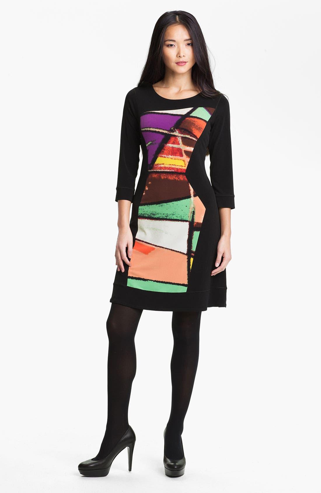 Alternate Image 1 Selected - Eva Varro Print Front Dress (Online Only)