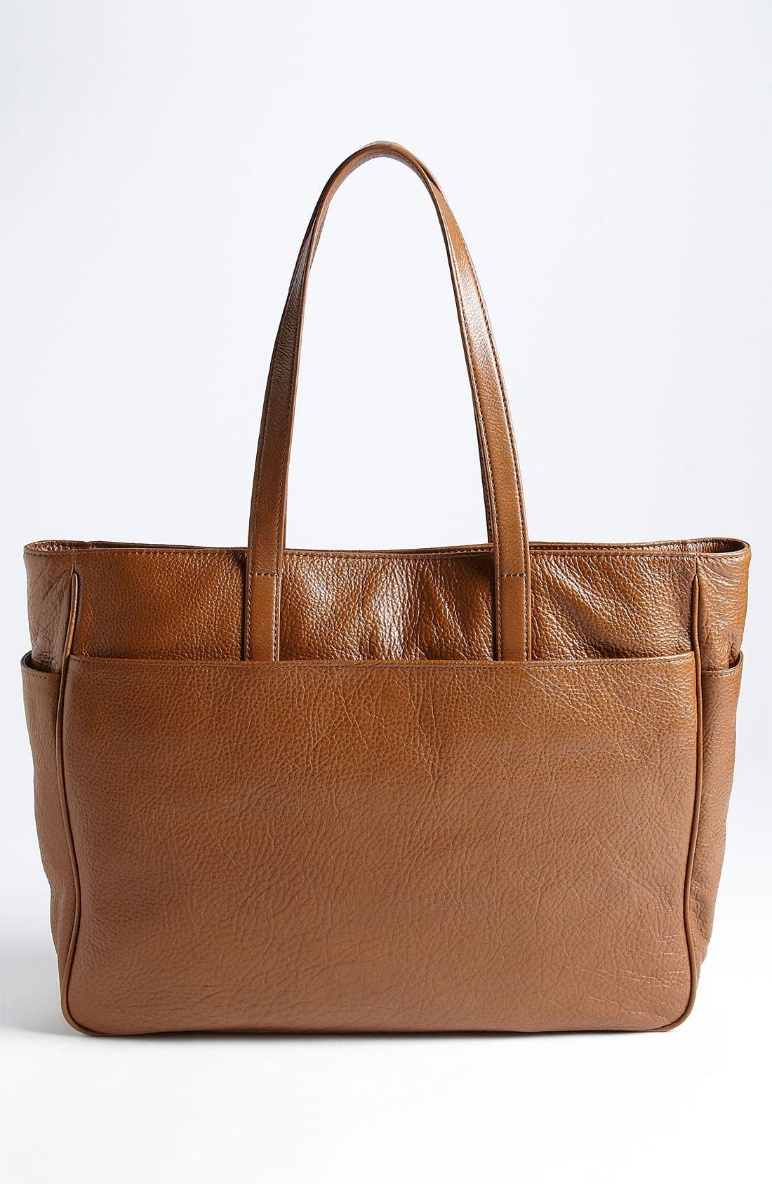 Alternate Image 4  - Tory Burch Perforated Logo Classic Leather Tote