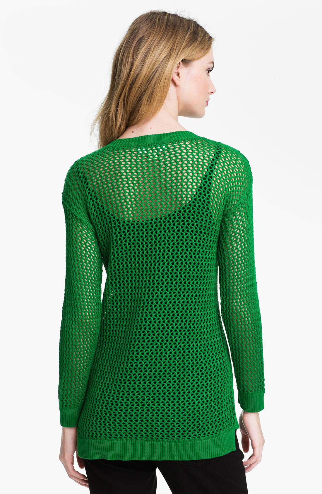Alternate Image 2  - MICHAEL Michael Kors Mesh Tunic Sweater