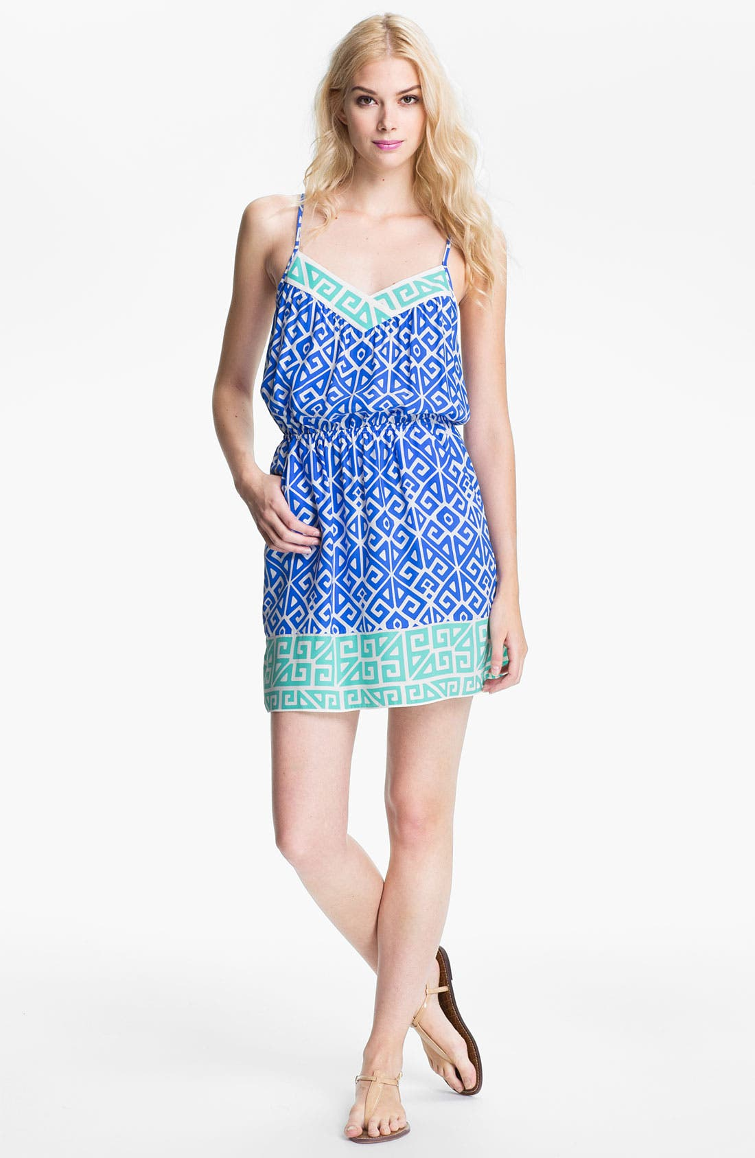 Main Image - ALICE & TRIXIE 'Jun' Printed Silk Blouson Dress