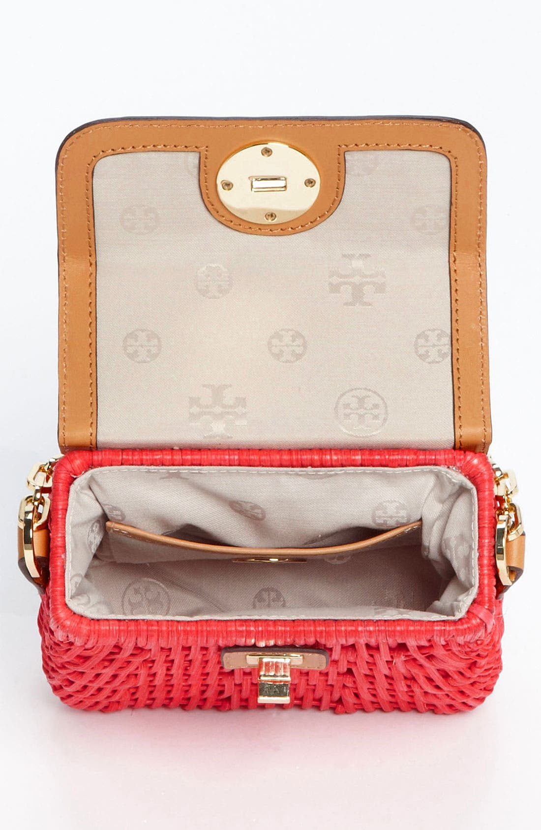 Alternate Image 3  - Tory Burch 'Mini' Lacquered Rattan Crossbody Bag