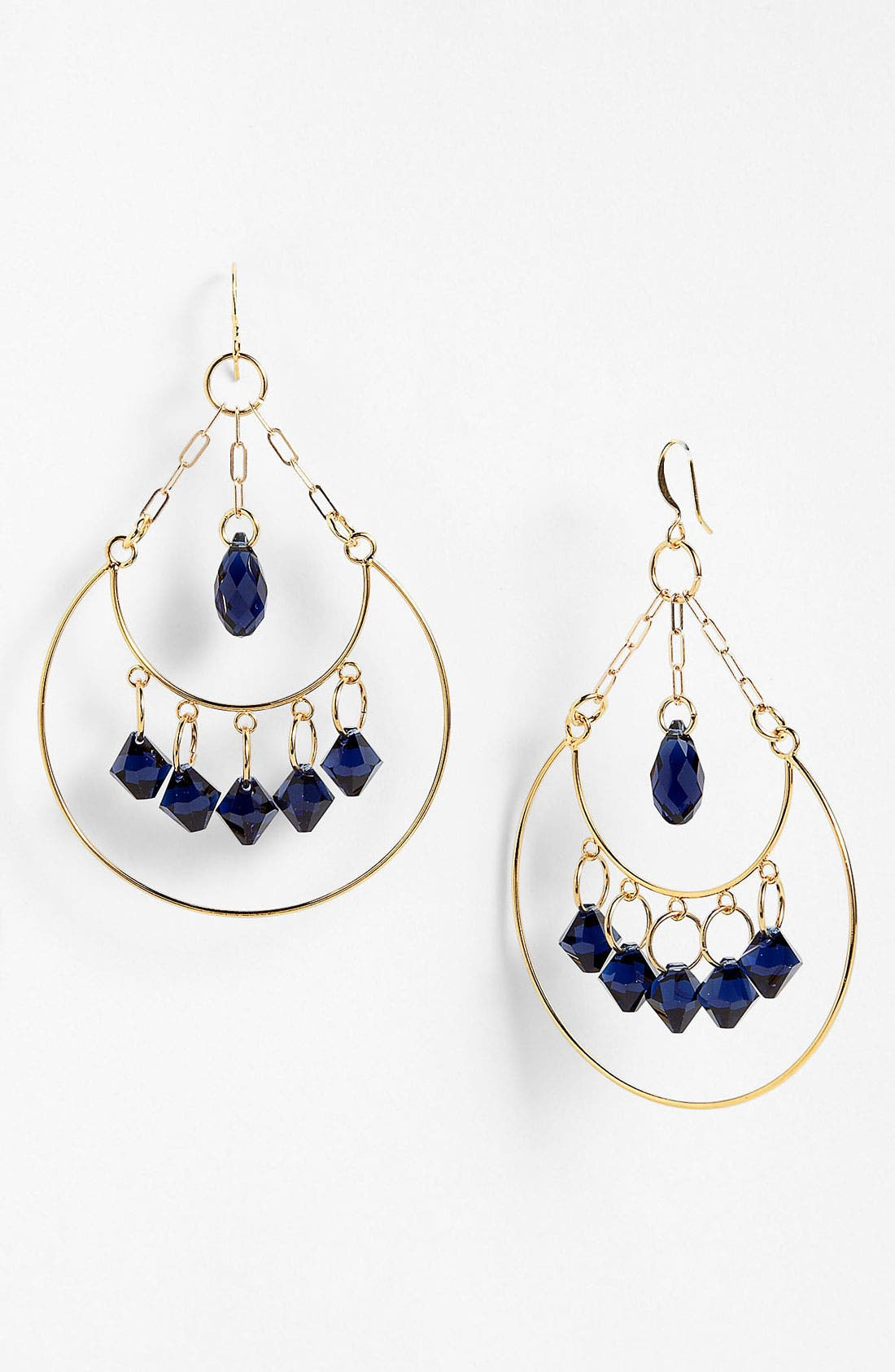 Alternate Image 1 Selected - Verdier Jewelry Indigo Crystal Chandelier Earrings