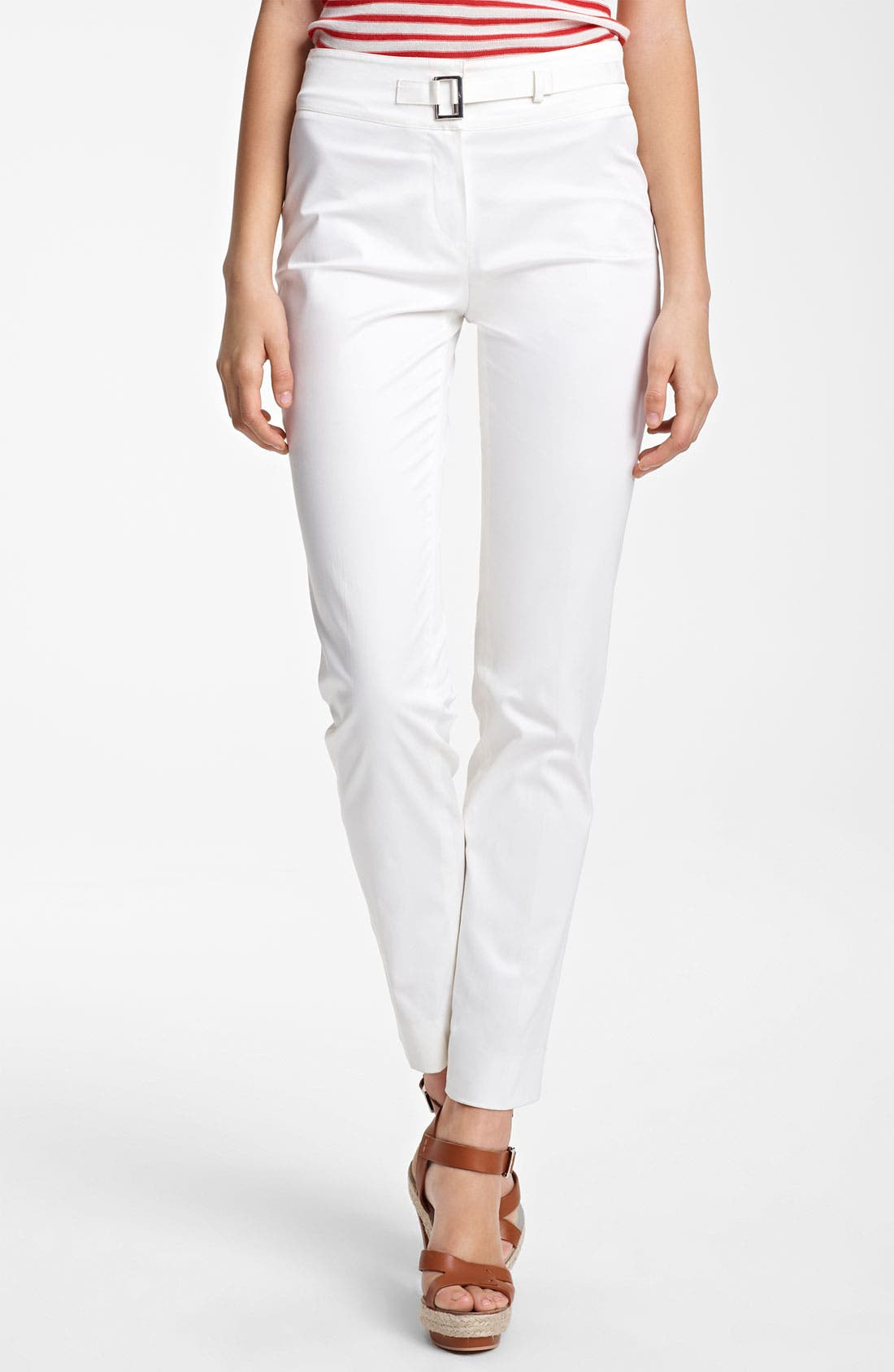 Alternate Image 1 Selected - Armani Collezioni Slim Stretch Cotton Pants