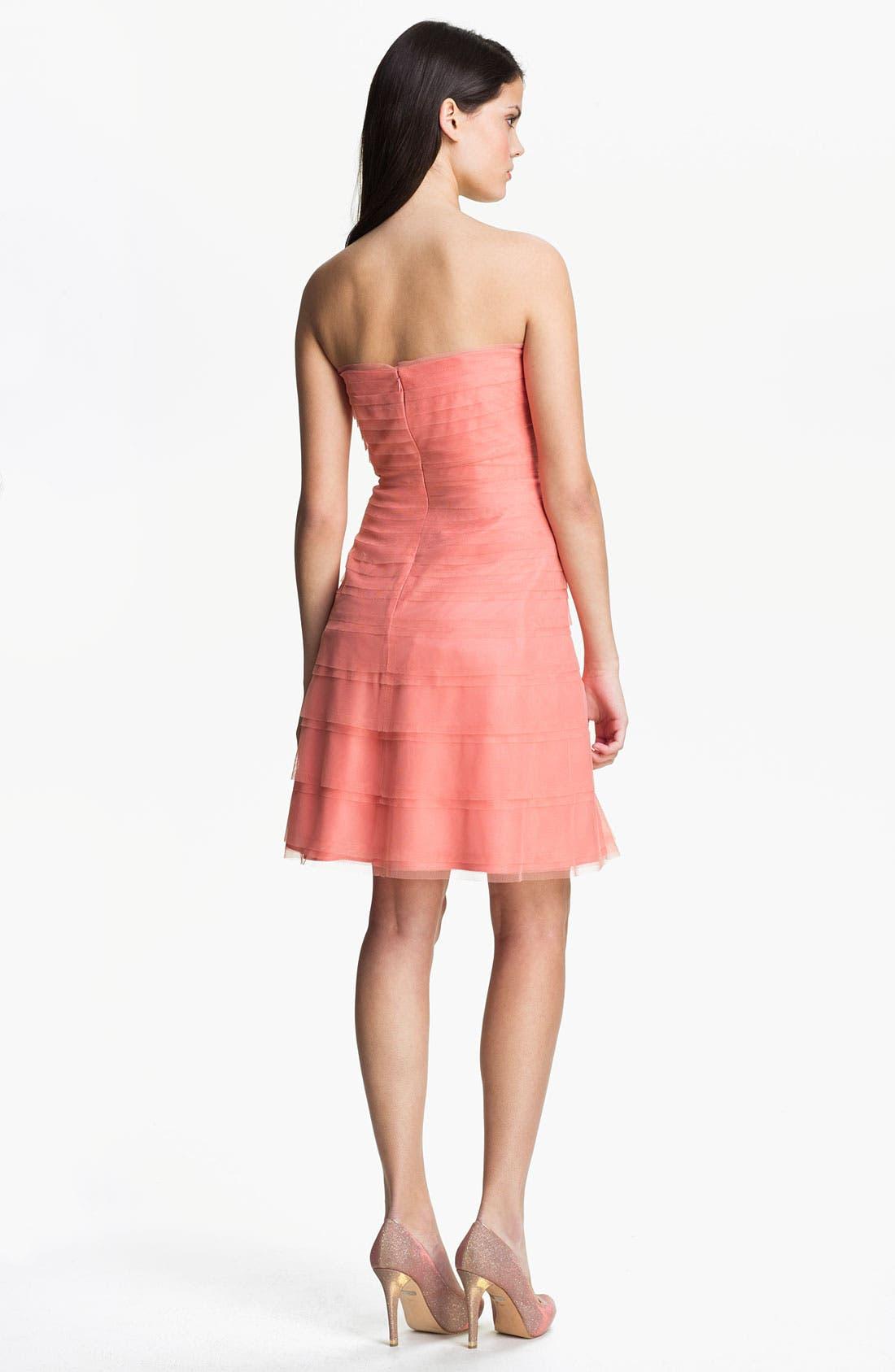 Alternate Image 2  - Donna Morgan Strapless Tulle Dress