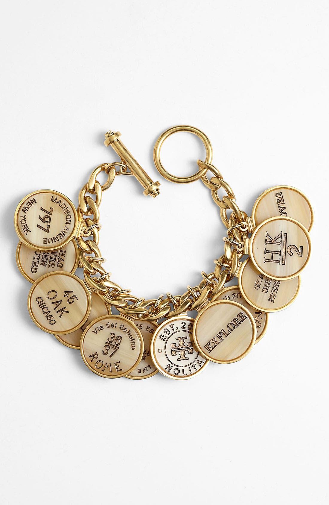 Main Image - Tory Burch 'Tory Landmark' Coin & Link Bracelet