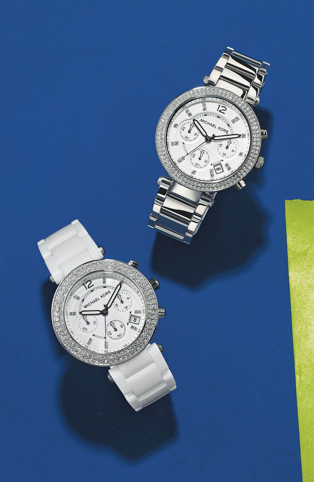 Alternate Image 3  - Michael Kors 'Parker' Chronograph Ceramic Bracelet Watch, 39mm