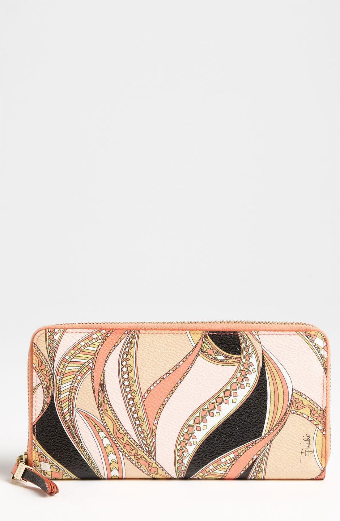 Alternate Image 1 Selected - Emilio Pucci Zip Around Wallet