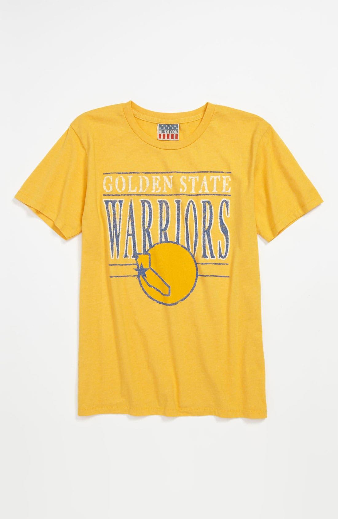 Alternate Image 1 Selected - Junk Food 'Golden State Warriors' T-Shirt (Little Boys & Big Boys)