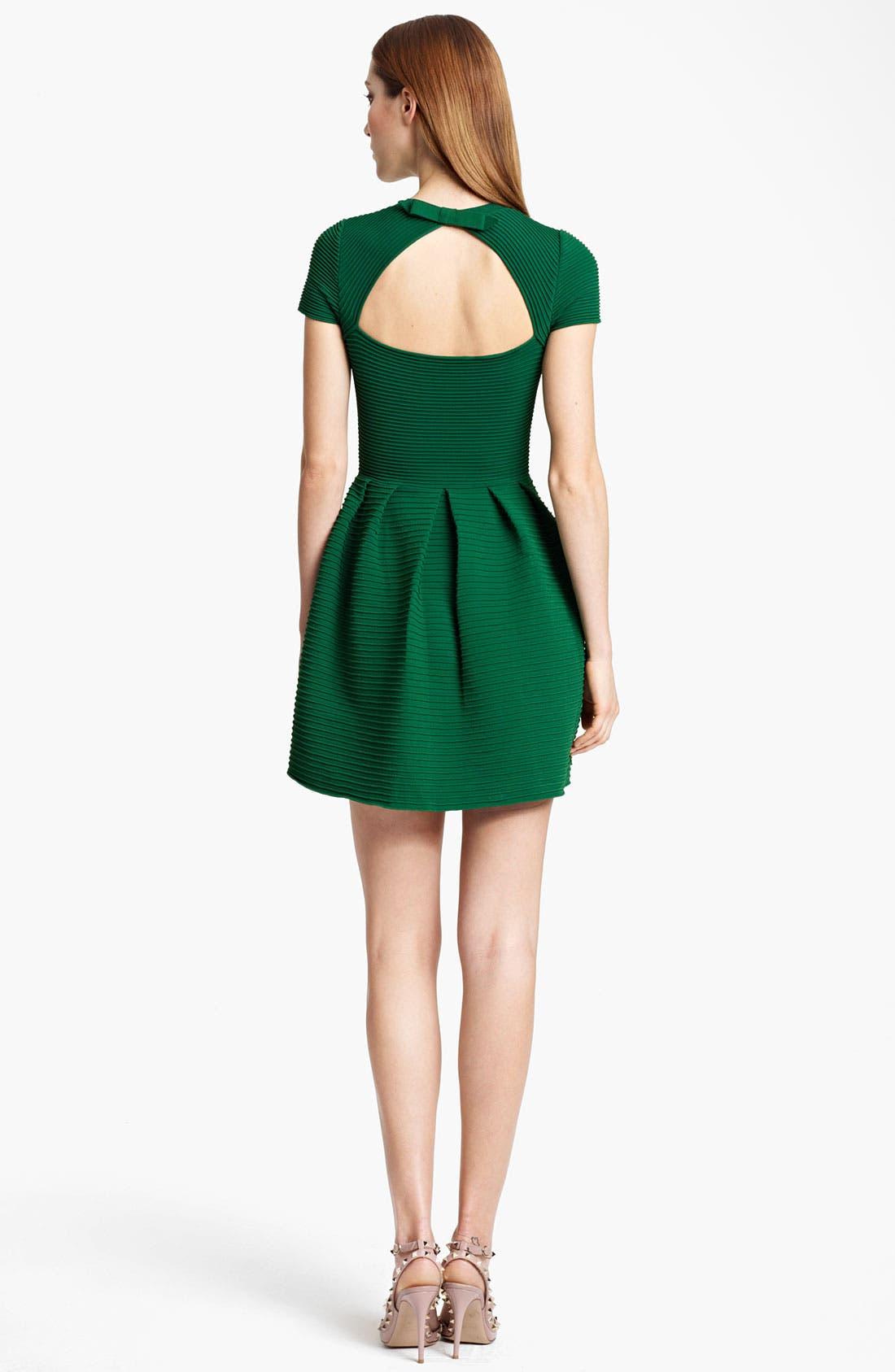 Alternate Image 2  - Valentino Open Back Full Skirt Dress