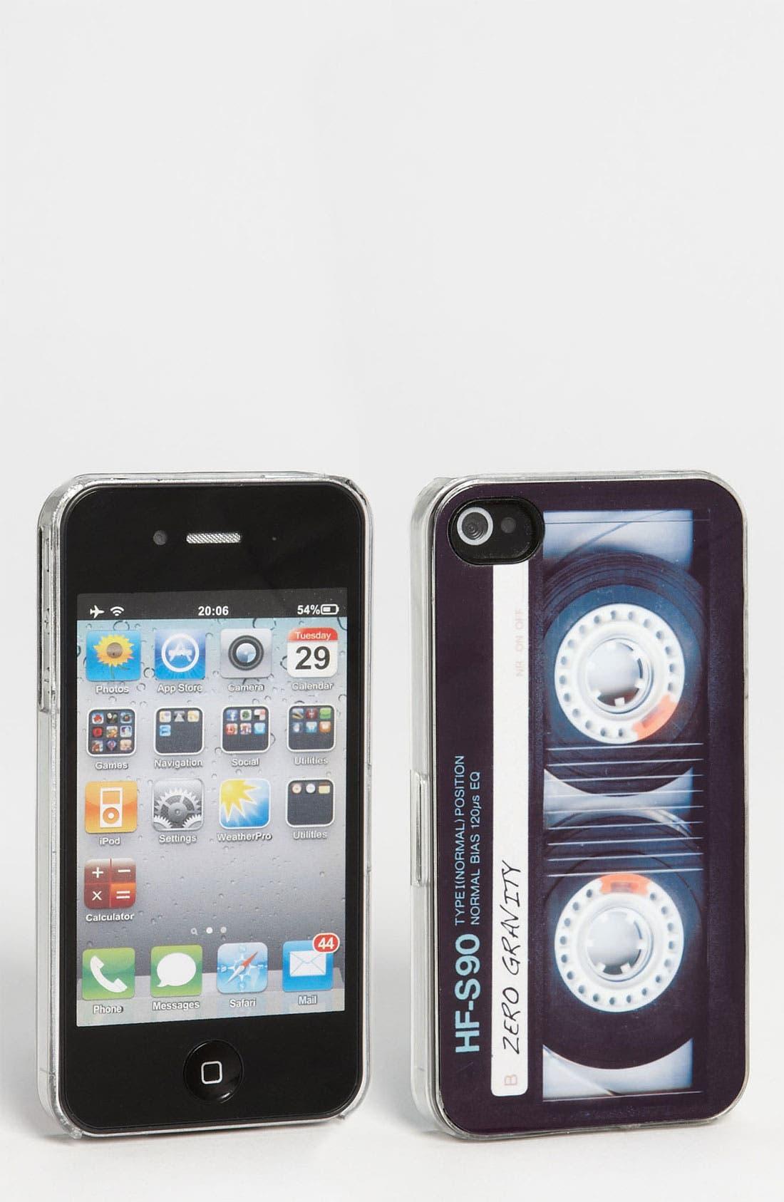 Alternate Image 1 Selected - ZERO GRAVITY 'Retro Cassette' iPhone 4 & 4S Case