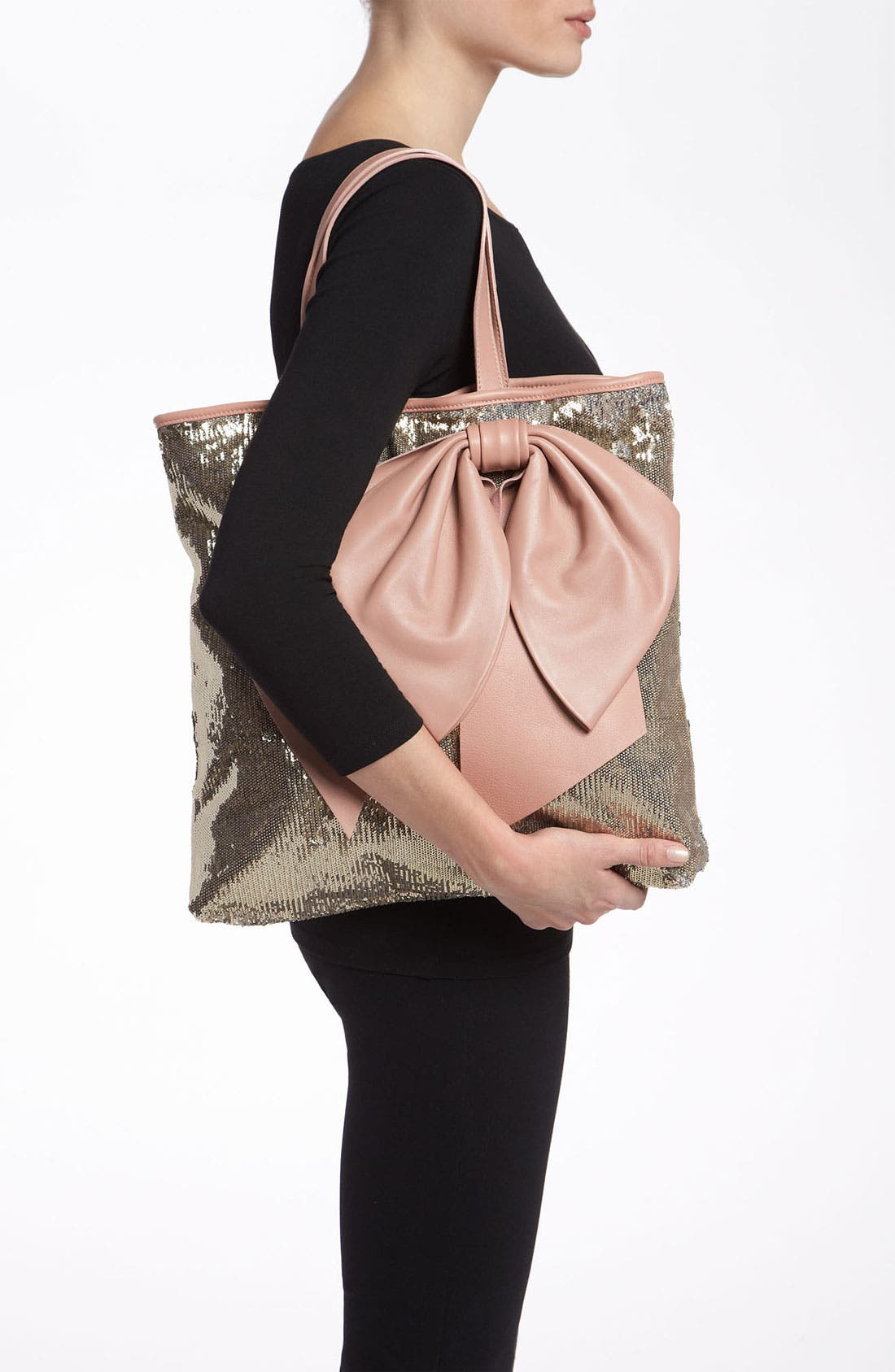 Alternate Image 2  - RED Valentino Sequin Bow Tote