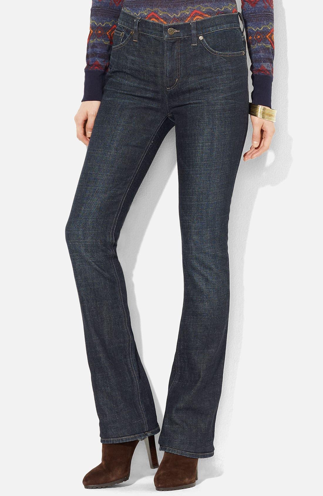 Main Image - Lauren Ralph Lauren Slimming Bootcut Jeans (Petite) (Online Exclusive)