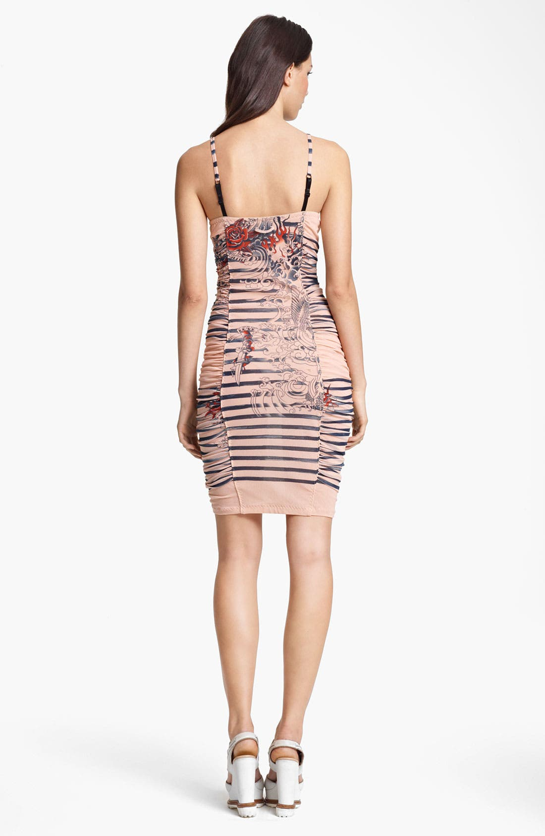 Alternate Image 2  - Jean Paul Gaultier Fuzzi Tattoo Print Tulle Dress
