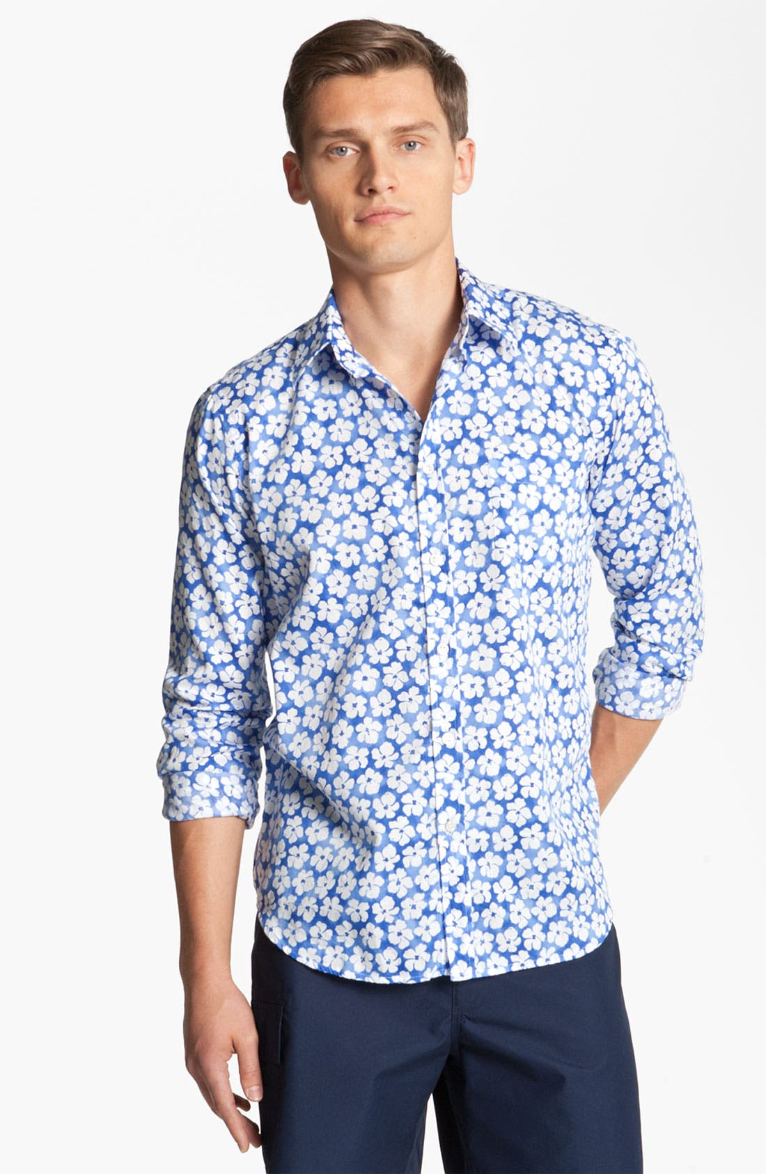Main Image - Vilebrequin Print Cotton Sport Shirt