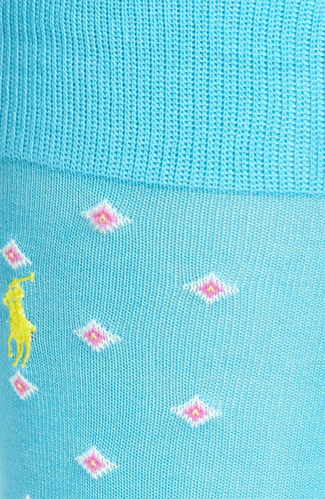Alternate Image 2  - Polo Ralph Lauren Diamond Pattern Socks