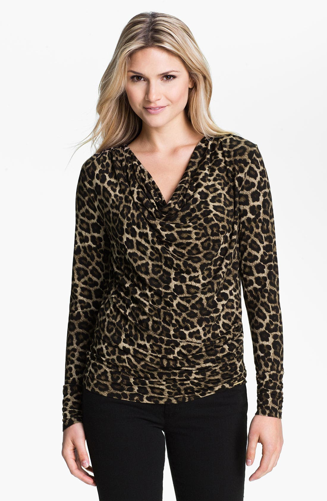 Alternate Image 1 Selected - MICHAEL Michael Kors Drape Neck Knit Top