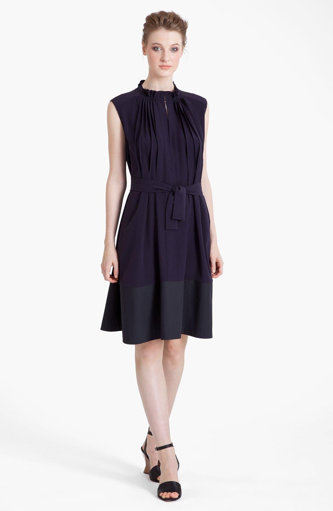 Main Image - Marni Belted Silk Blend Crepe Dress