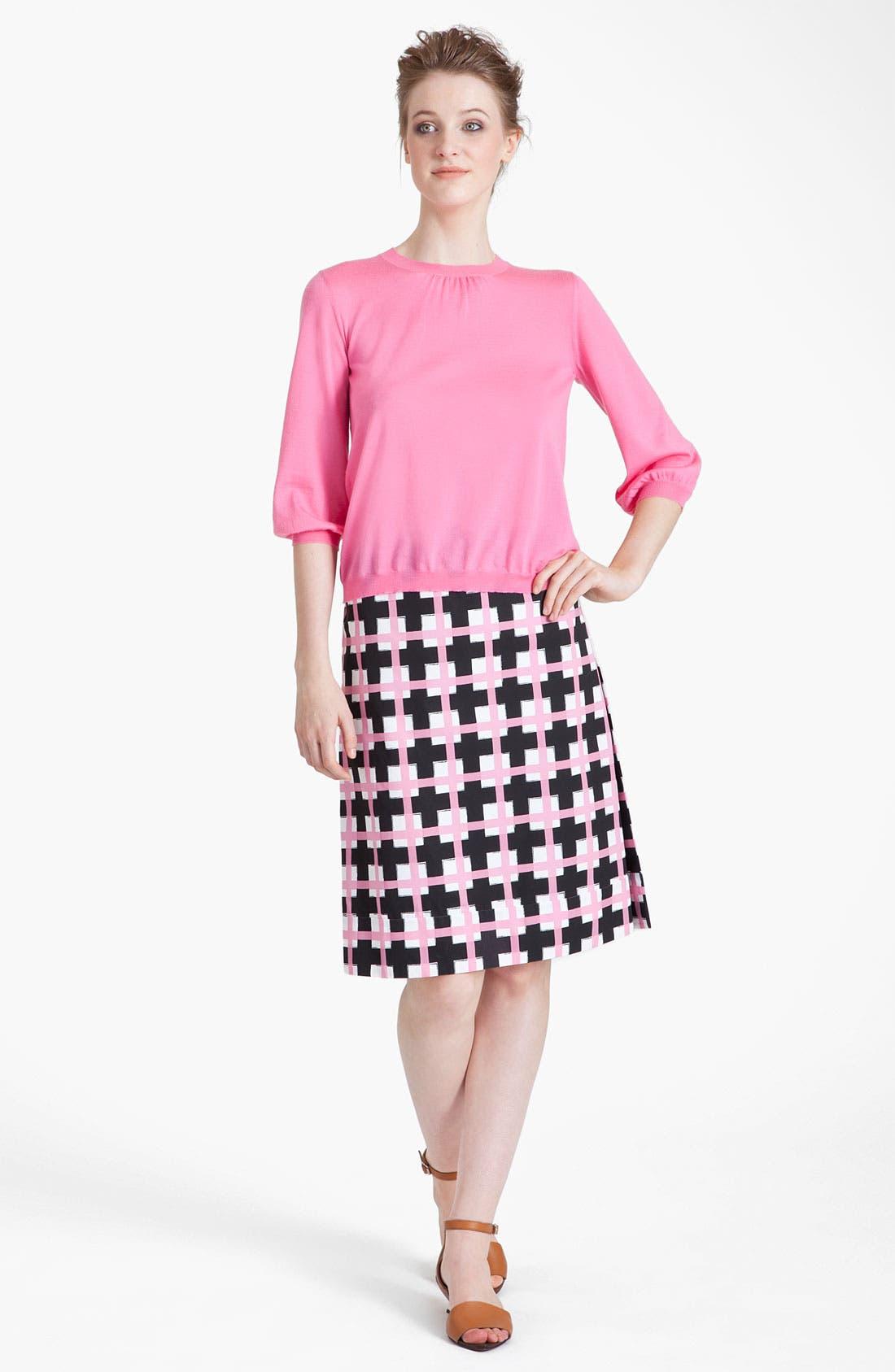 Alternate Image 4  - Marni Grid Print Taffeta Pencil Skirt