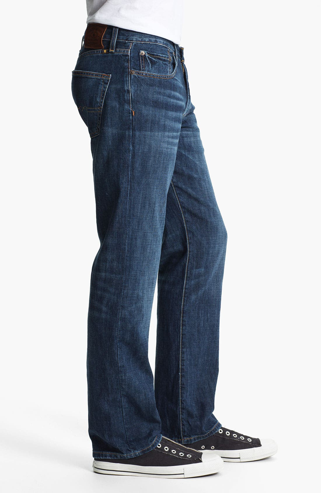 Alternate Image 3  - Lucky Brand '221 Original' Straight Leg Jeans (Medium Temescal)