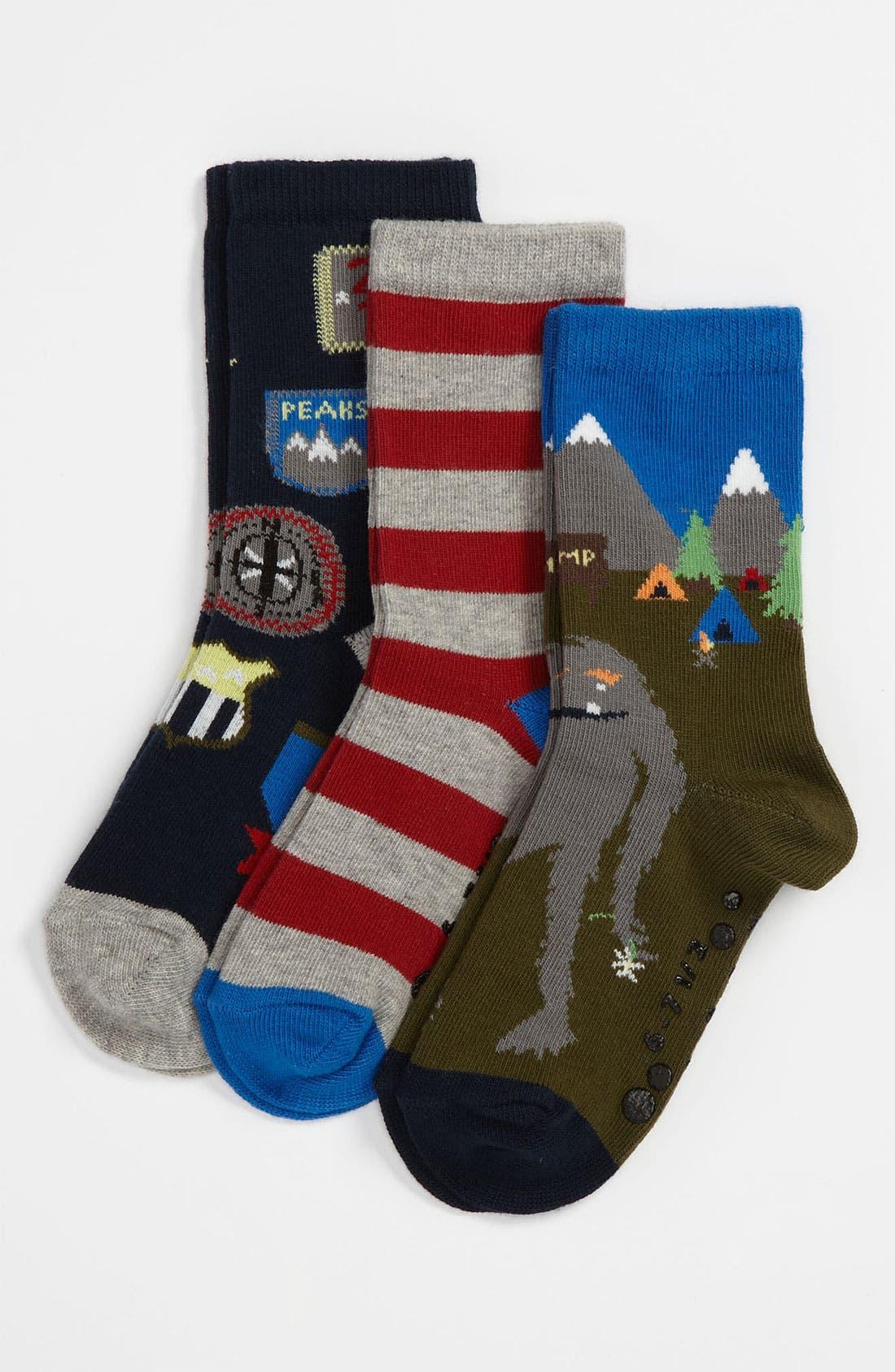 Alternate Image 1 Selected - Nordstrom 'Camp Adventure' Socks (3-Pack) (Boys)