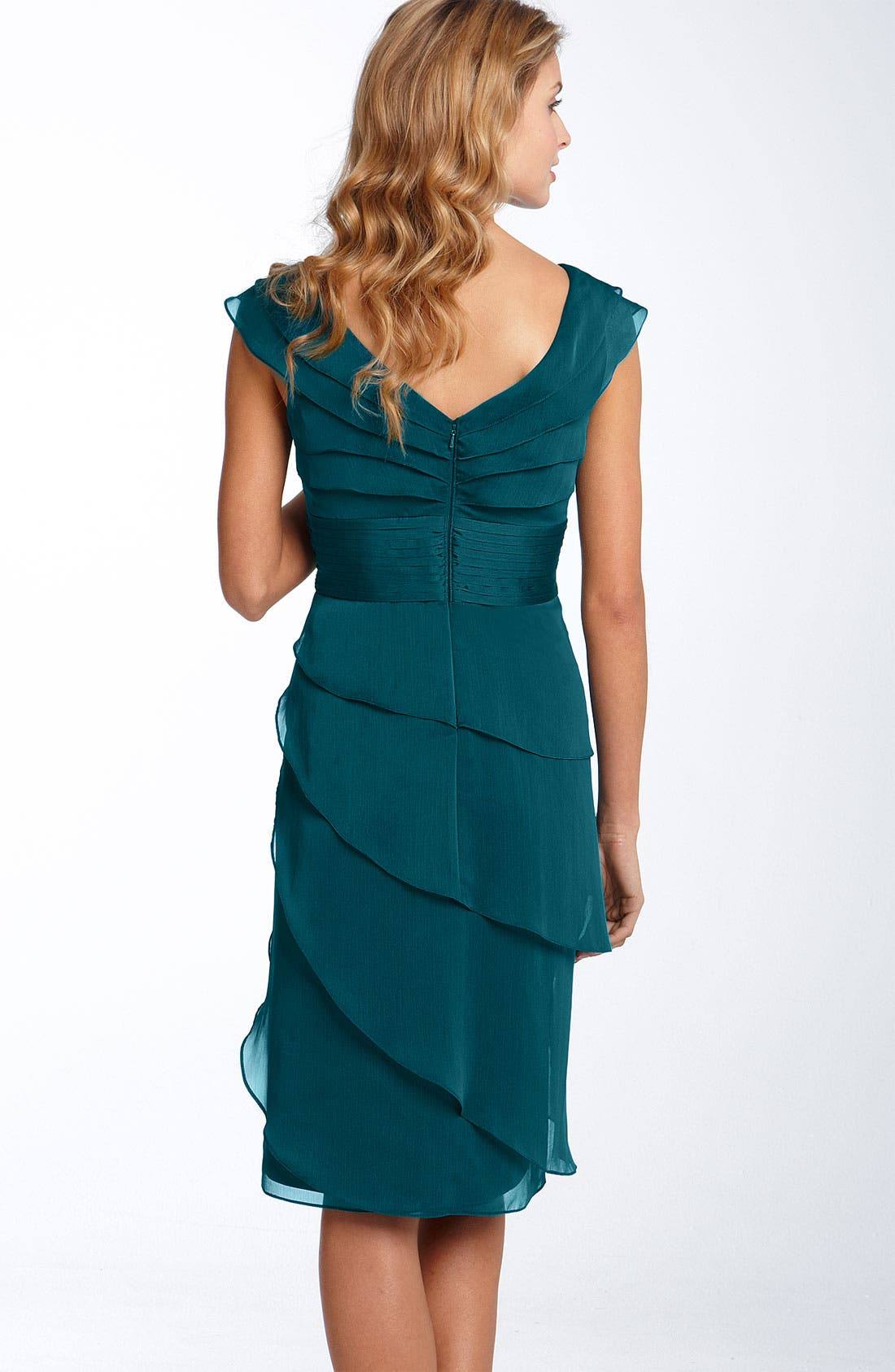 Alternate Image 2  - Adrianna Papell Tiered Chiffon Dress (Regular & Petite)