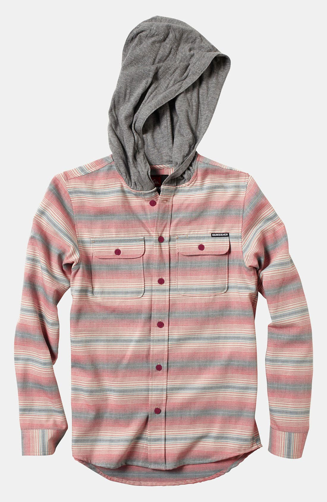Alternate Image 1 Selected - Quiksilver 'Switch Blade' Hooded Flannel Shirt (Big Boys)
