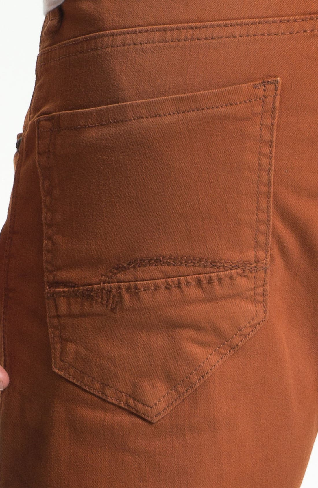 Alternate Image 4  - Mavi Jeans 'Zach' Straight Leg Jeans (Orange)