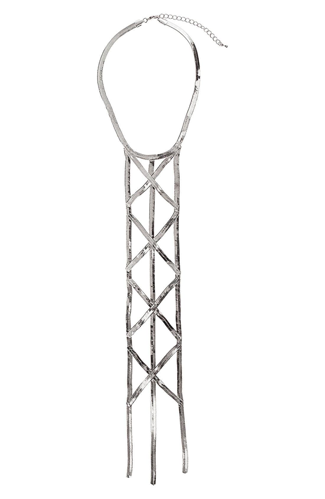 Alternate Image 1 Selected - Topshop Ladder Necklace