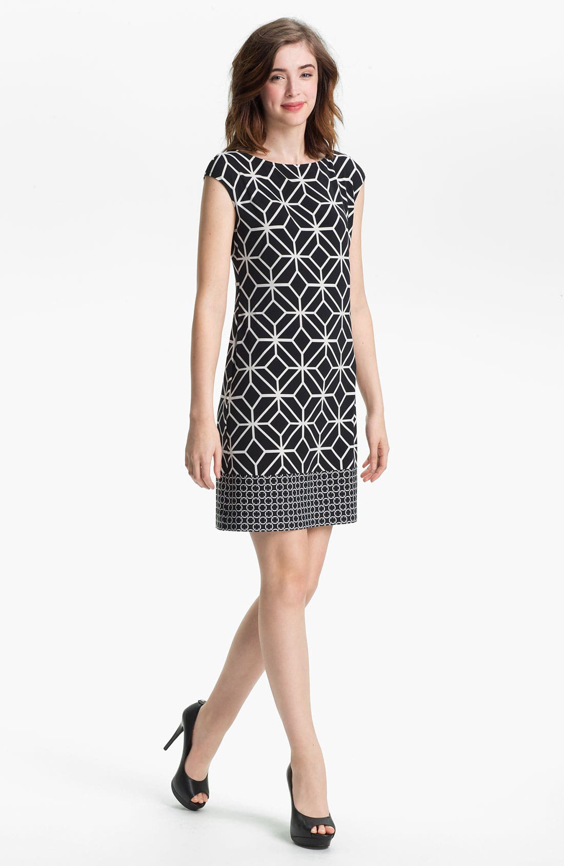 Alternate Image 1 Selected - Donna Morgan Print Knit Dress