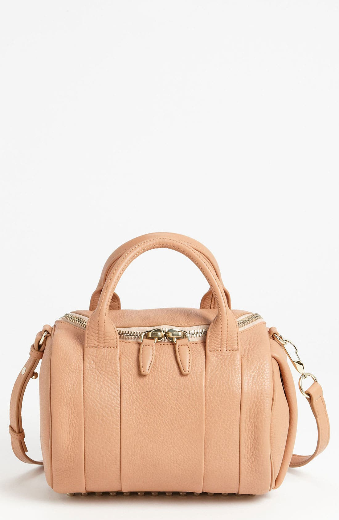 Main Image - Alexander Wang 'Rockie - Pale Gold' Leather Crossbody Satchel