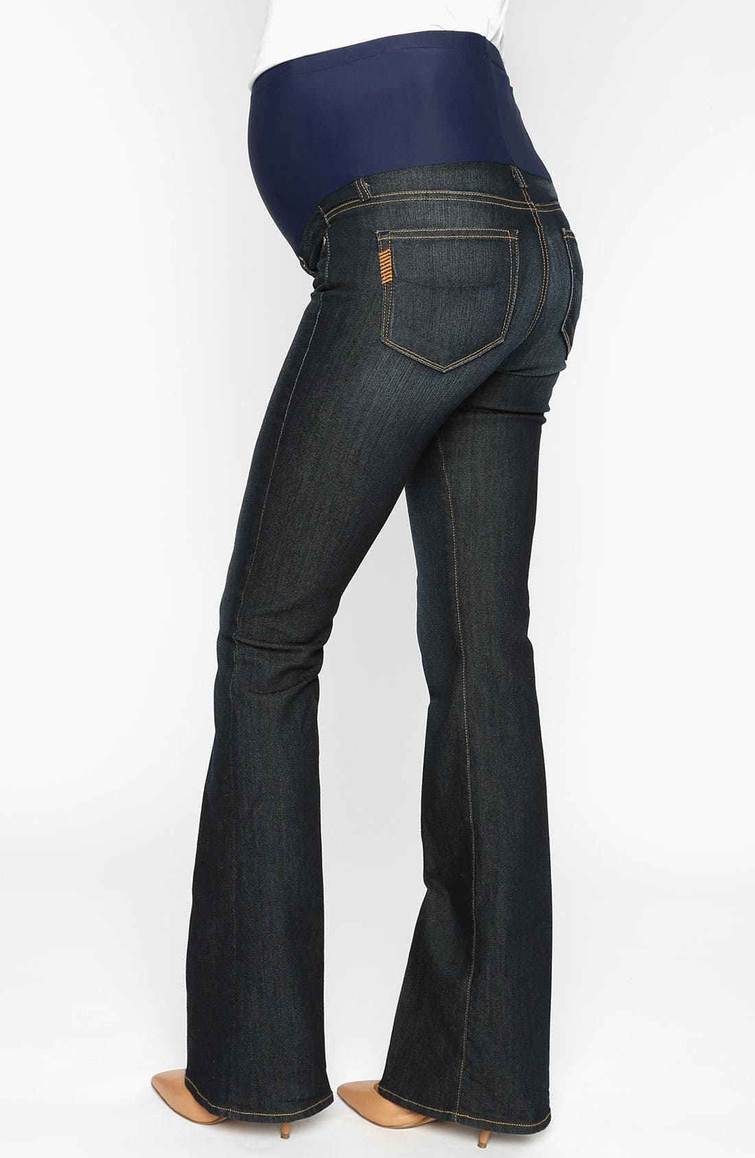 Alternate Image 2  - Paige Denim 'Skyline' Maternity Bootcut Jeans (Twilight)