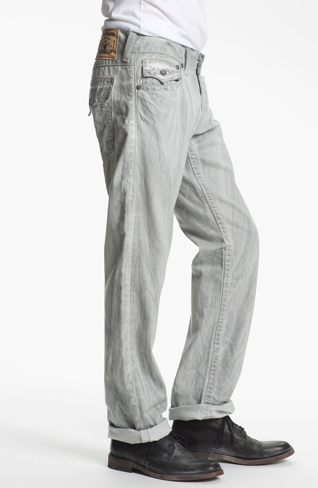 Alternate Image 3  - True Religion Brand Jeans 'Ricky' Straight Leg Jeans (Pebble)