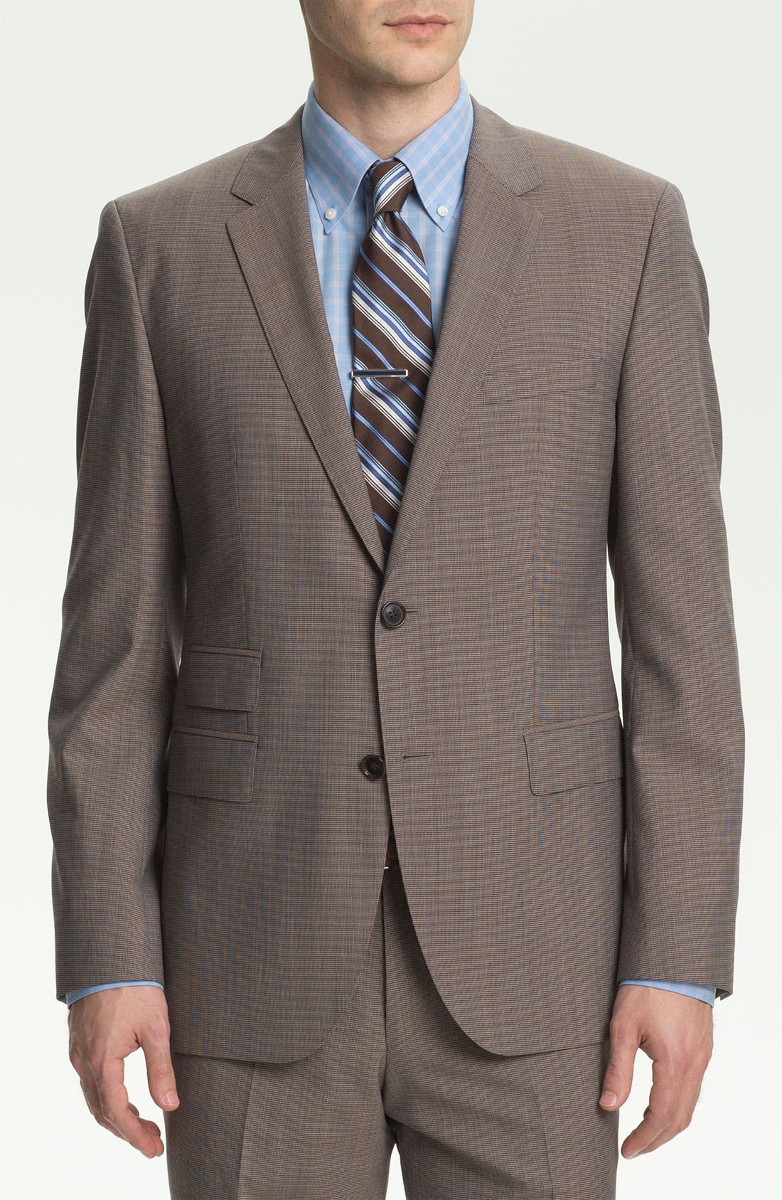 Alternate Image 1 Selected - BOSS HUGO BOSS 'The Sweet/Sharp' Trim Fit Houndstooth Suit