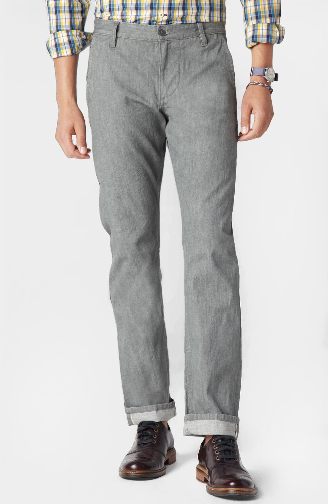 Main Image - Dockers® 'Alpha Khaki - Selvedge' Slim Straight Leg Pants (Online Exclusive)