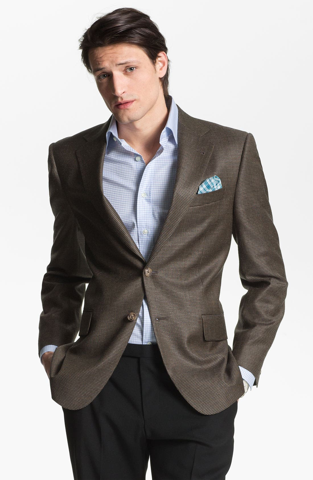 Main Image - Joseph Abboud 'Signature Silver' Houndstooth Sportcoat