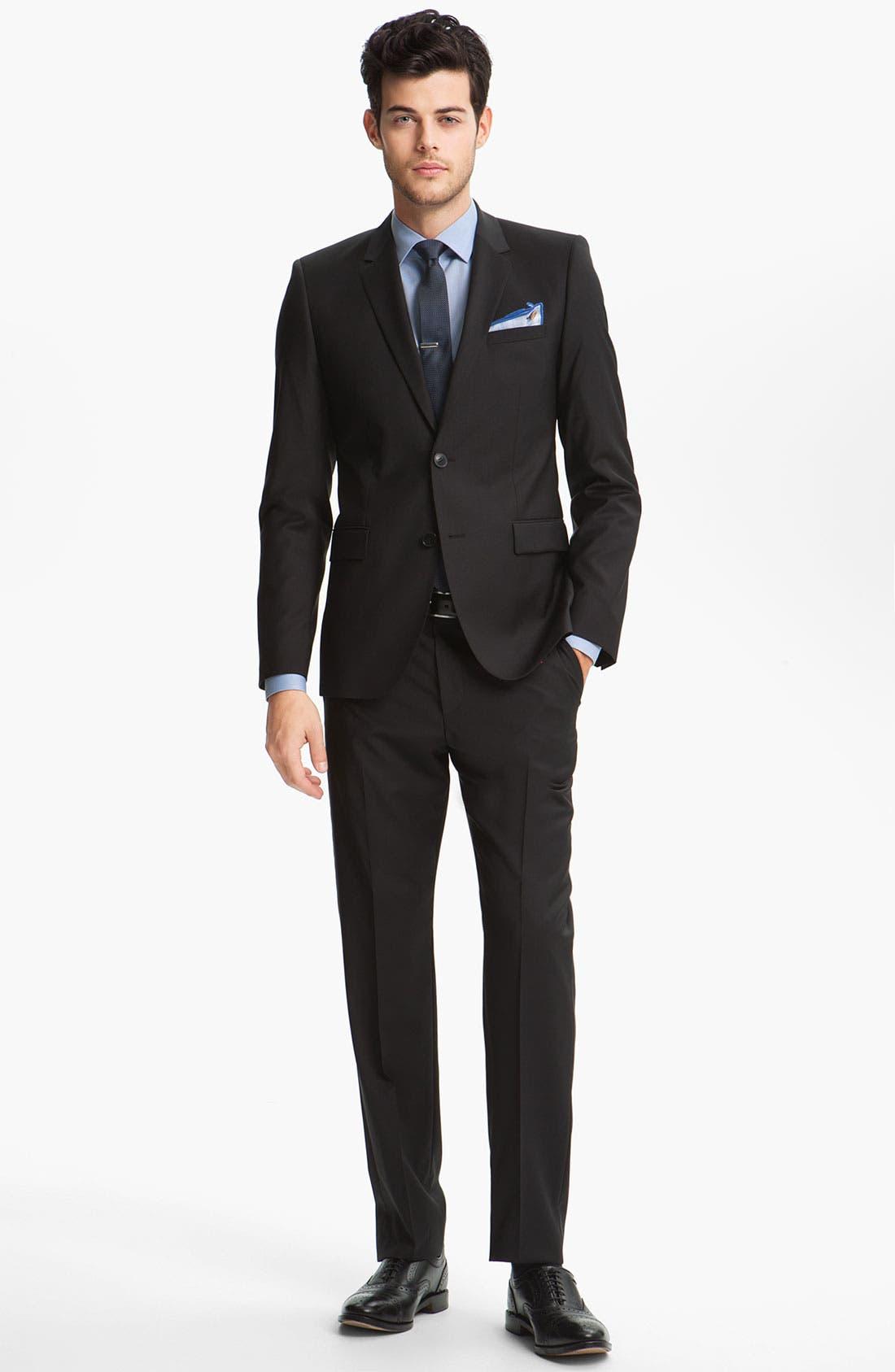Alternate Image 3  - HUGO Woven Silk Tie