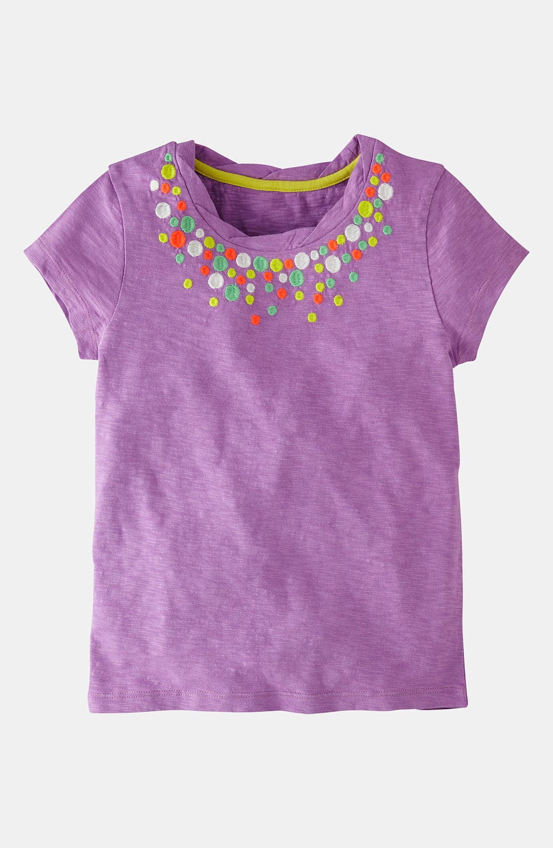 Alternate Image 1 Selected - Mini Boden 'Pretty' Embroidered Tee (Toddler, Little Girls & Big Girls)