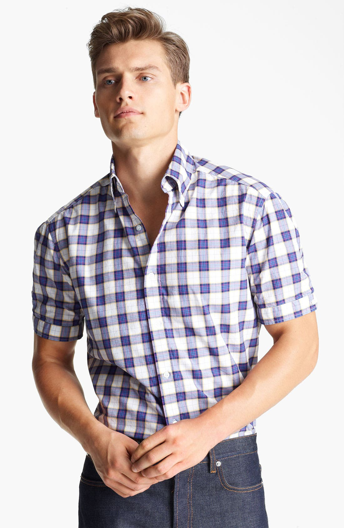 Alternate Image 1 Selected - Michael Bastian Check Woven Shirt