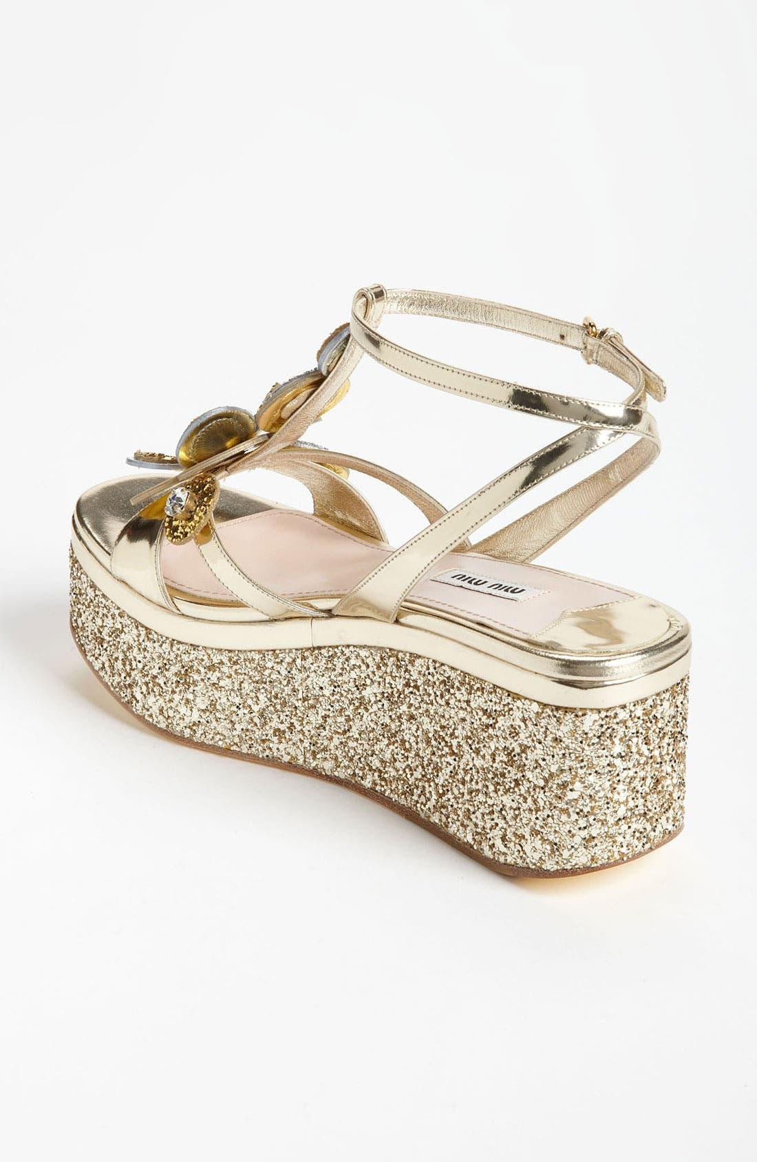 Alternate Image 2  - Miu Miu Flower Platform Sandal