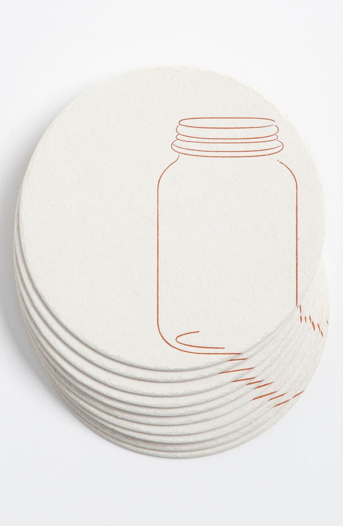Alternate Image 1 Selected - 'Mason Jars' Letterpress Coasters (Set of 10)