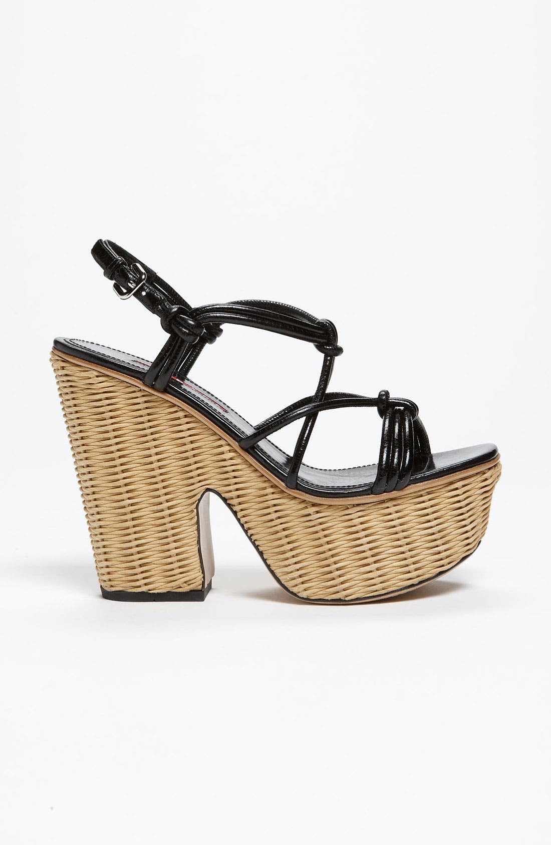Alternate Image 4  - Prada Wicker Sandal