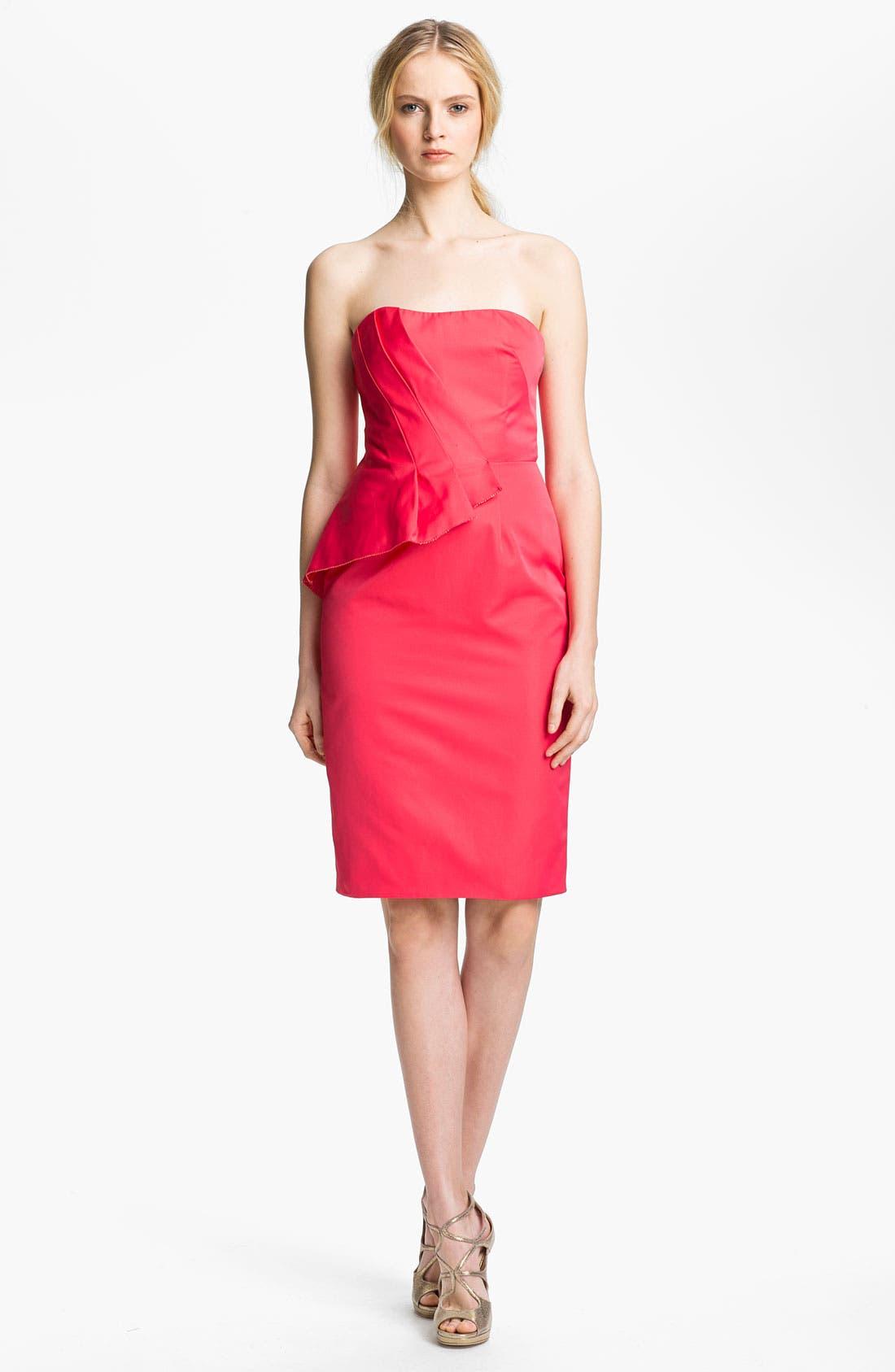 Alternate Image 1 Selected - Lela Rose Strapless Dress