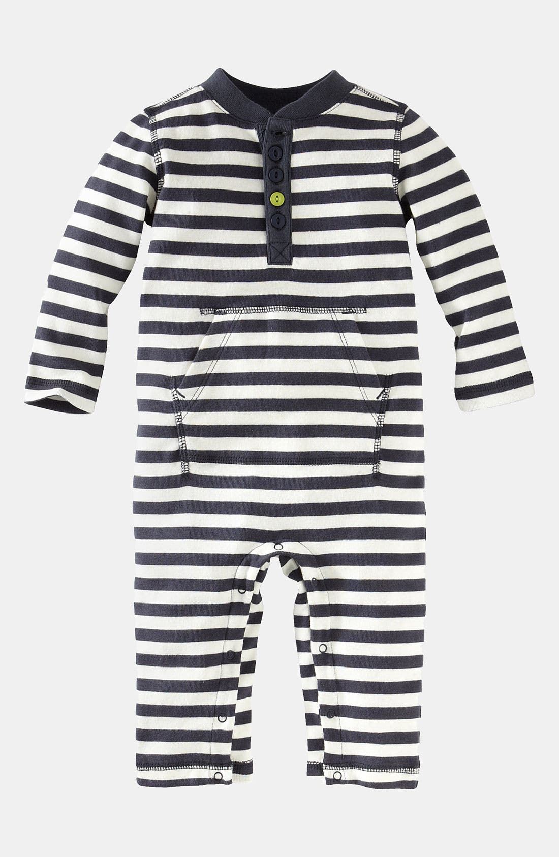 Alternate Image 1 Selected - Tea Collection 'Vilakazi' Stripe Henley Romper (Infant)