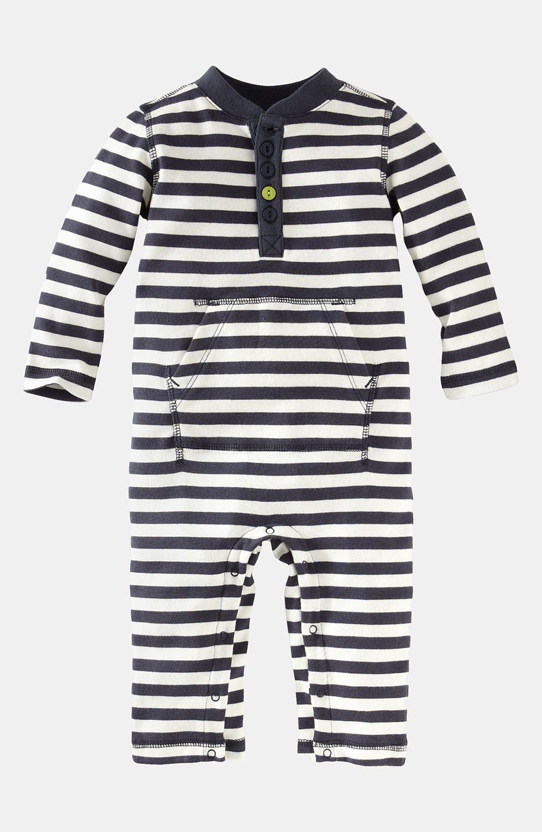 Main Image - Tea Collection 'Vilakazi' Stripe Henley Romper (Infant)