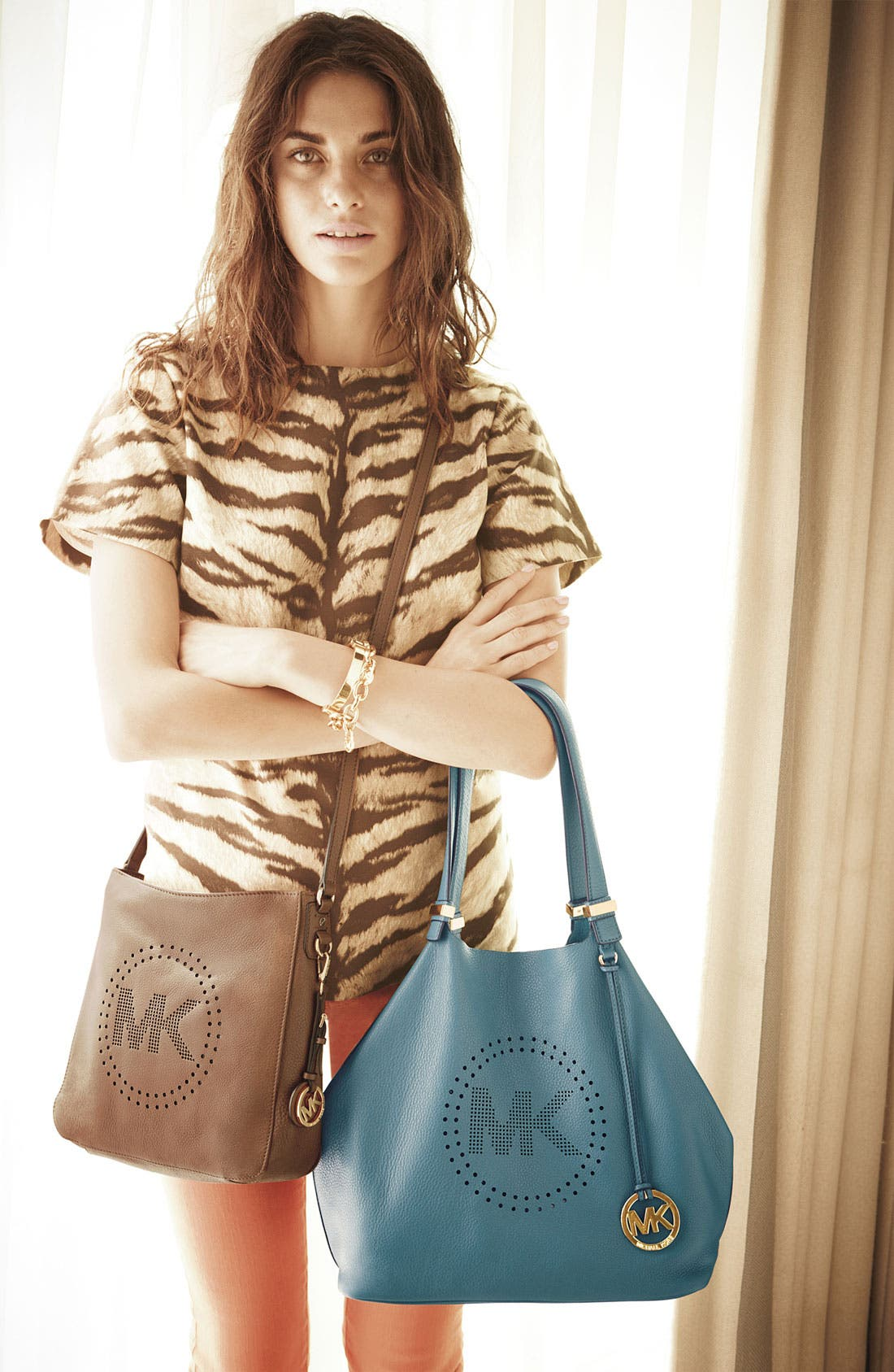Alternate Image 5  - MICHAEL Michael Kors 'Perforated MK - Large' Leather Tote