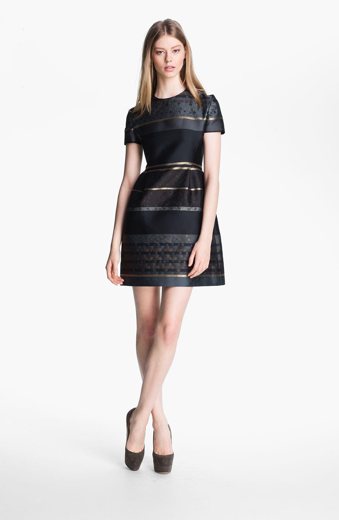 Alternate Image 1 Selected - Victoria, Victoria Beckham Stripe Jacquard Dress
