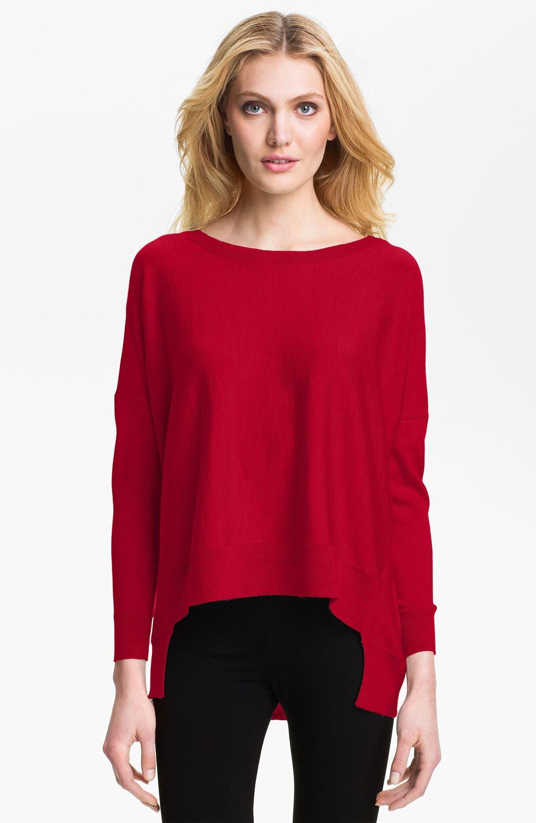 Alternate Image 1 Selected - Eileen Fisher Ballet Neck Merino Sweater (Regular & Petite)